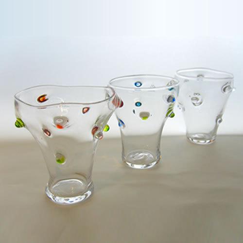 あづみ野ガラス工房 つののあるグラス