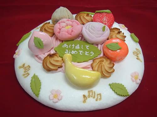 和菓子のデコレージョンケーキ