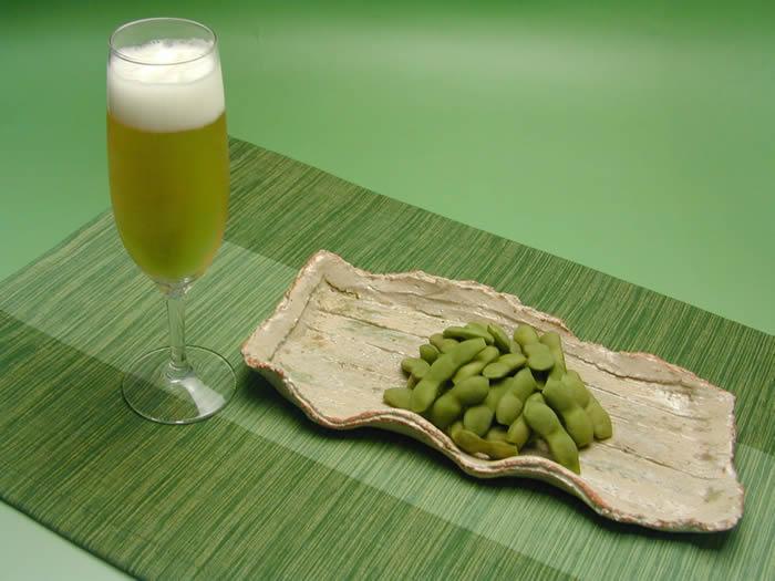 ちゃ豆とビール