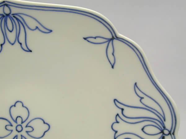 染付華紋皿2枚組